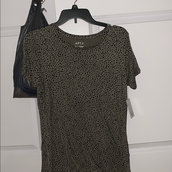 A Green and Black Medium Shirt from Kohl's.